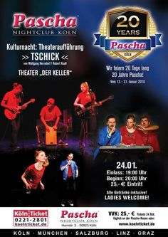 Tschick - Pascha Kulturnacht im Pascha Nightclub Köln Ticket, Night Club, Entertainment, Twitter, Movie Posters, Night, Culture, Cards, Film Poster