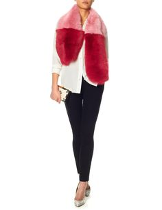 Two Tone Shearling Scarf by DLUX is fun and will erase any January Blues. £325.00