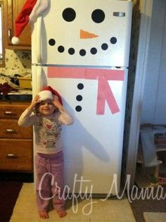 DIY Snowman Fridge