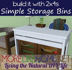 Build a Simple Storage Bin out of 2x4s with MoreLikeHome.net for around $9. Plus $100 Lowes / Home Depot gift cards giveaway!