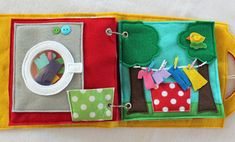 "NEW! ""Laundry Day"" 2 Page Quiet Book Activity to Create and Expand your Custom Hand-made Quiet Book!"