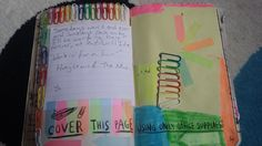 My Wreck This Journal - Office Supplies Page #hueylewis #kerismith #wreckthisjournal #thisisnotabook