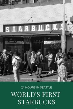 Pike Place Starbucks - The Original Starbucks, The First Starbucks in the World - Candid Cuisine Starbucks Store, Starbucks Reserve, Starbucks Mugs, Places Around The World, Around The Worlds, Starbucks Seattle, Seattle Travel Guide, Coffee Places, Pike Place Market