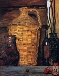 гелий коржев - Плетеная бутыль, 1990., russian artist