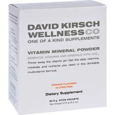 David Kirsch Wellness Vitamin Mineral Powder - Orange - Packets