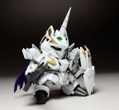 SD BB LEGEND Knight Unicorn Gundam - Painted Build