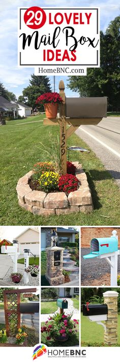 Best Ideas For Landscaping Mailbox Curb Appeal Love Mailbox Garden, Diy Mailbox, Mailbox Landscaping, Lawn And Garden, Mailbox Ideas, Garden Landscaping, Porch Mailbox, Country Mailbox, Front Porch
