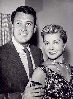 "Esther Williams and Rock Hudson for their television special ""Revlon's Big Party"" broadcast live in 1959 Hollywood Men, Hollywood Glamour, Hollywood Stars, Classic Hollywood, Ester Williams, Black And White Stars, Rock Hudson, Famous Names, Big Party"