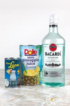 Pina Colada Recipe Coco Lopez, Pina Colada Pitcher Recipe, Perfect Pina Colada Recipe, Frozen Pina Colada, Best Non Alcoholic Drinks, Drinks Alcohol Recipes, Drink Recipes, Punch Recipes, Pina Colada