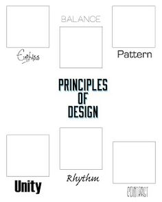 I made this graphic organizer for my students as we continue to study the Design Principles. Find it on We Keeps It Graphic!