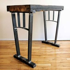 Bar Table - Recaimed Metal and Wood