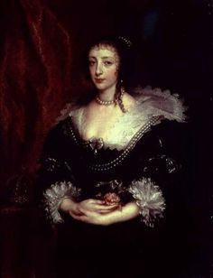 Anthony Van Dyck - Queen Henrietta Maria, Consort of King Charles I of England