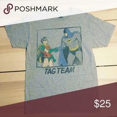 5f40787dd76fc Batman and Robin Tag Team T-Shirt Marvel DC Comic Batman and Robin Tag Team