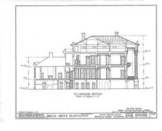 HABS LA,24-WHICA.V,1- (sheet 7 of 36) - Belle Grove, White Castle, Iberville Parish, LA