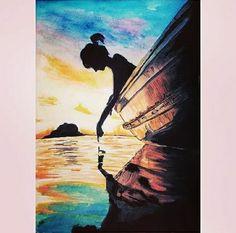 Oil Pastel Art, Mini Canvas Art, Guache, Silhouette Art, Arte Pop, Art Drawings Sketches, Acrylic Art, Painting & Drawing, Water Drawing
