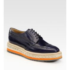 1d16bf0f0 Prada Wing-Tip Platform Espadrille Oxfords ( 950) ❤ liked on Polyvore Ugly  Shoes