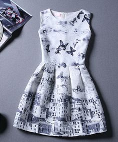 One of Cami's cheerful, fun dresses. She likes high places and buildings, so it fits her rather well.
