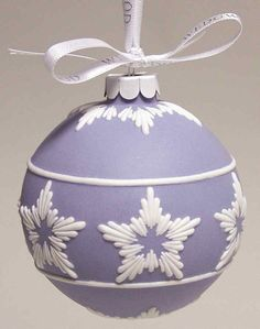 Wedgwood Jasperware Ball Ornament Blue Star