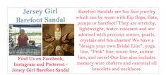 Jersey Girl, Bare Foot Sandals, Barefoot