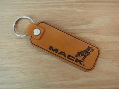 Mack Truck Key ring, Genuine leather keyring key chain logo badge 134 Thick Leather, Natural Leather, Leather Keyring, Mack Trucks, Diy Keychain, Motorcycle Leather, Split Ring, Cowhide Leather, Key Rings