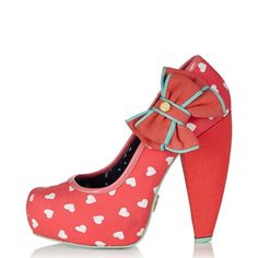 babycham shoes | BABYCHAM FERN HEARTS CORAL HEEL SHOES