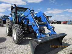 New Holland equipped with loader Ford Tractors, New Holland, Farming, Tractors, Agriculture