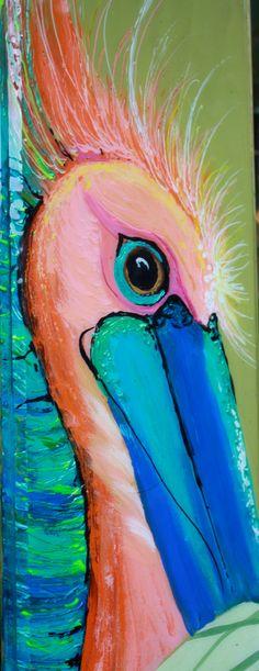 Poppy Pelican by artbylorilynn on Etsy, $225.00
