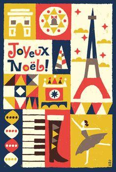 Joyeux Noël by illustrator Suzuki Tomoko