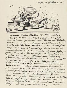 84bebcafa Hermann Max Pechstein – Brief mit Zeichnung (Berlin 1931) Picture Letters