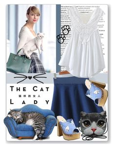 """The Cat Lady"" by oregonelegance ❤ liked on Polyvore featuring Balmain, Sessions, Miu Miu, skirt, fashionset and bhalo"
