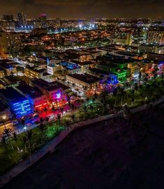 Ocean Drive, Miami Beach by Aaron Carter Visit Florida, Miami Florida, Beach Town, South Beach, Miami Beach Nightlife, Aaron Carter, Ocean Drive, Aerial Photography, Night Life