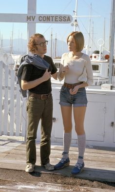 Woody Allen and Diane Keaton ► Play it again by Herbert Ross ► Written by Allen Diane Keaton Young, Diane Keaton Woody Allen, Diane Keaton Annie Hall, Dianne Keaton, Woody Allen Quotes, Play It Again Sam, Role Models, Fashion Outfits, Movies