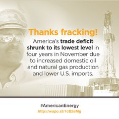 Thanks to #fracking, the U.S. trade deficit is shrinking.