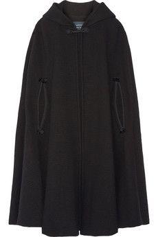 Lanvin Hooded tassel-trimmed wool-blend cape | NET-A-PORTER