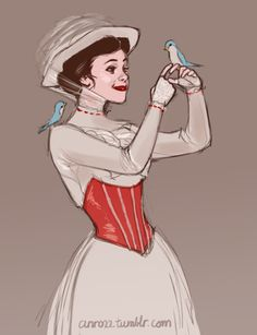 Such a lovely, simple and delicate drawing. Mary Poppins.