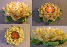 Tea Light Lotus Crochet