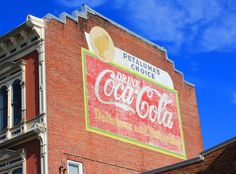 Old Ghost Town of Petaluma, CA homage to Coca Cola on an old brick building