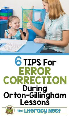Today, I am discussing how to help a student with error correction during Orton-Gillingham lessons. Feedback is given immediately to students whenever you are implementing the Orton-Gillingham approach. The Literacy Nest Dyslexia Activities, Dyslexia Teaching, Teaching Reading, Teaching Ideas, Guided Reading, Class Activities, Teaching Tools, Wilson Reading, Reading Difficulties