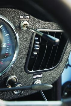 Photo Courtesy: David LaChance The car's many rally bits include dual horn controls.