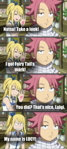 Haha that time when natsu couldn't even remember her name ah they have come long way