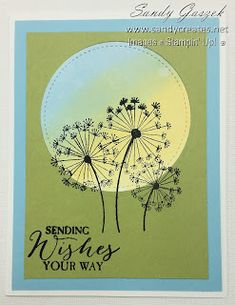 These size cards feature the Dandelion Wishes Stamp Set from Stampin' Up! Series 2 - Sponged Backgrounds This is part 2 of a serie. Some Cards, Get Well Cards, Sympathy Cards, Greeting Cards, Dandelion Wish, Card Making Techniques, Birthday Sentiments, Handmade Birthday Cards, Watercolor Cards