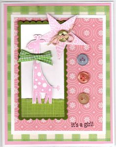 Girlie Girl New Baby by prbloom - Cards and Paper Crafts at Splitcoaststampers