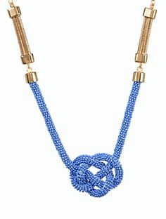 Talbots - Seedbead Nautical-Knot Necklace | | Discover your new look at Talbots. Shop our Seedbead Nautical-Knot Necklace for stylish clothing and accessories with a modern twist at Talbots