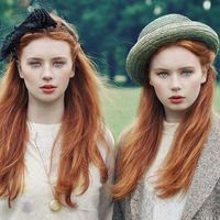 Red hair, pale skin, and blue eyes usually signifies Irish decent