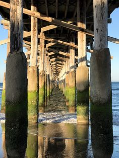 """""""Under the boardwalk, down by the sea, on a blanket with my baby is where I'll be...""""  Low tide at the Newport Beach Pier.  Great place to get an early morning photo."""