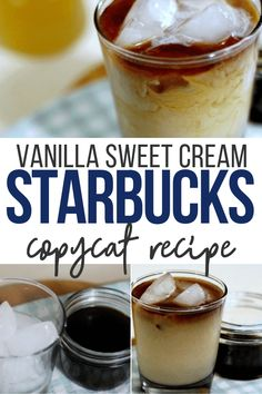 This Vanilla Sweet Cream Cold Brew Recipe is simple to make and even easier to enjoy! Coffee Drink Recipes, Starbucks Recipes, Starbucks Drinks, Coffee Drinks, Cold Brew Coffee Recipe Starbucks, Cold Brew Iced Coffee, Vanilla Sweet Cream Recipe, Sweet Cream Recipe For Coffee, Frappuccino
