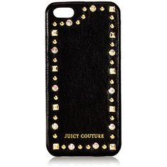 Leather & Stud iPhone 5 Case ($48) ❤ liked on Polyvore