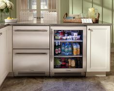Undercounter Refrigerators – The New Must-Have In Modern Kitchens. Frees up space for shelves or windows!