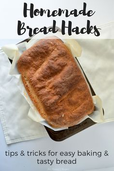 5 Homemade Bread Hacks Following A Recipe, No Rise Bread, Bread Recipes, Easy Recipes, How To Make Bread, Bread Baking, Quick Easy Meals, Tasty, Hacks