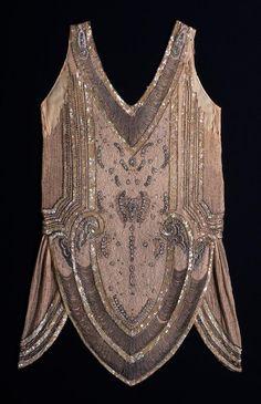 Evening Dress: ca. 1930, Hungarian, beaded net.